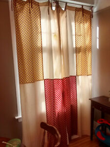 Beautiful Handsewn Lined Curtains - 2 Panels