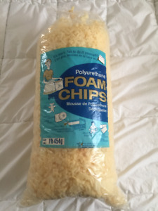 1 lb Bag Polyurethane Foam Chips for Stuffing, 3 bags available