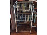 Chrome rack for kitchen or utility eoom