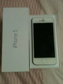 I phone 5 16g brand new screen and battery in box with new leather case