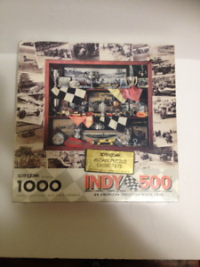Vintage SEALED 1000 pce. Indy 500 Jigsaw Puzzle