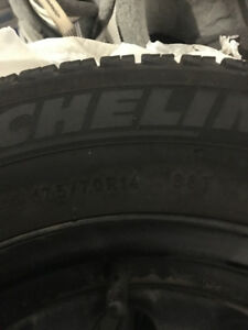 Michelin Winter tires and rims 175/7.0R14.