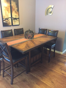 Pub Height table and chairs - 10 pieces