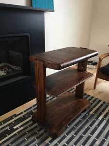 art deco / 1940s walnut side table