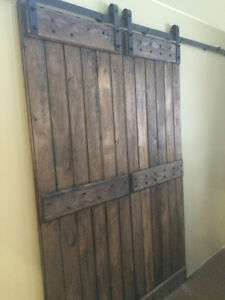 New Rustic Sliding Barn Door & Barn Door Hardware Cambridge Kitchener Area image 3
