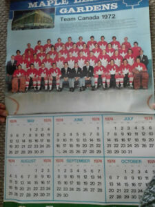 Team Canada Toronto Maple Leafs Stanley Cup Calendars-60's & 70s