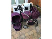 ICandy cherry mulberry Pram set boxed