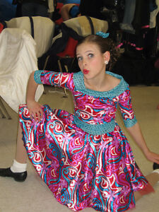 Jazz costume - red and turquoise