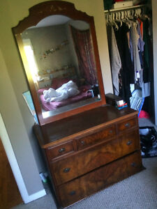 Beautiful antique dresser with large mirror