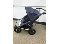 Mountain buggy double pushchair/ stroller - with lots of extras inc Pram add on!