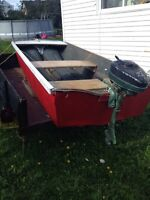 Boat and 4hp Motor all rebuilt offers? Trades?