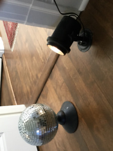 Disco ball with strobe light