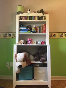Bookcase and matching dresser with infant change tabe