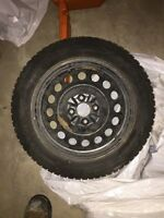 WINTER SNOW TIRES AND RIMS 185/55 R15 mint