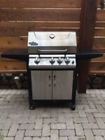 BBQ Grill Chef Stainless Steel with Propane Tank