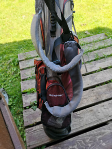Golf clubs, bag and balls