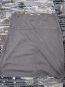 Grey Faux Suede Skirt, never worn - size S