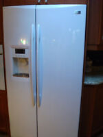 White GE Profile -side by side with Water and Ice Dispenser