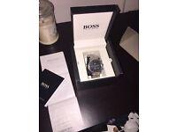 Boss watch with (box & receipt )