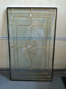 Front door stained glass panel insert