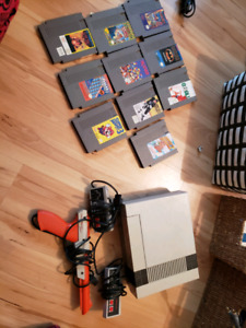 NES with Zapper and Games