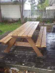 6' Hand Crafted 2x6 Cedar or Pressure Treated Picnic Table London Ontario image 8