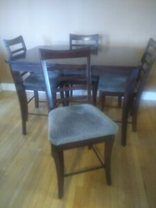 Table and Chair Set - Pub Style - $300
