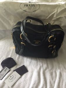 Authentic black Prada purse