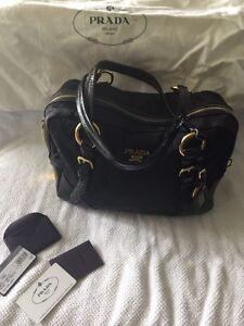 Authentic black Prada purse
