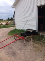 Antique wagon perfect for mini up till quarter horse $500 firm