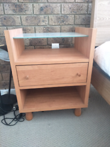 2 x bedside tables mid century style