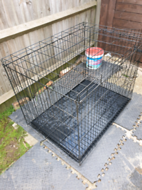 Folding Metal Dog Cage Extra Large