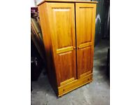 Free delivery 🎅 pine double wardrobe