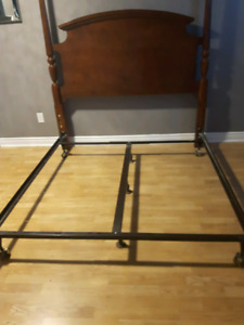Queen size frame and head board