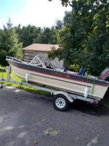 16' starcraft boat with trailer - 4200 obo