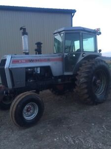 White tractor for sale.
