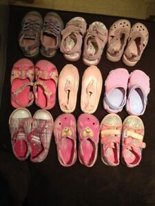 Size 9 shoes, sandals and water shoes