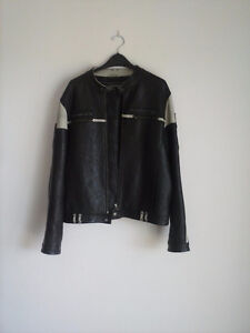 Ed Hardy Black leather Jacket