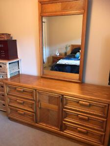 Dresser, nite stand and queen headboard