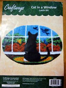 Cat in a Window Latch hook Kit