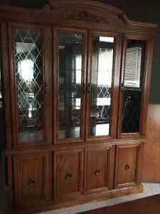 China cabinet, buffet and dining room table and chairs