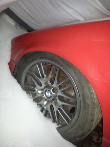 Mag BMW 17po noir/chacoal Avec pneu Michelin