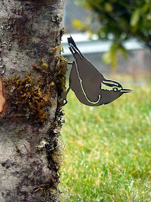 Cut Metal Rusty Nuthatch Bird Garden Home Yard Outdoor Lawn Fence Art Tree Decor