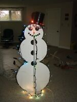 SNOWMAN (outdoor decor) - lighted- LARGE