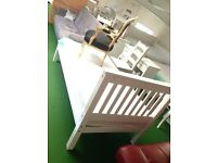 Solid white single bed new sale