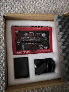 NORD 4 CHANNEL DRUM SYNTHESIZER, AND ALESIS KICK TRIGGER