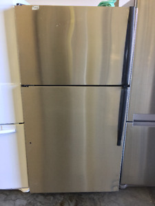 "Stainless Steel 33"" Whirlpool Gold Fridge"