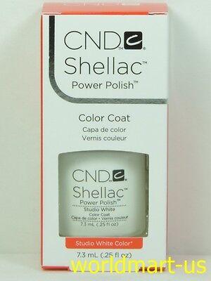 - CND Shellac GelColor UV/LED: #40526_Studio White 0.25fl.Oz