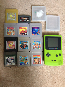 Game Boy Color (lime green) & Games $10+