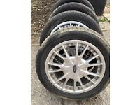 "Ford 15"" alloy wheels and tyres"